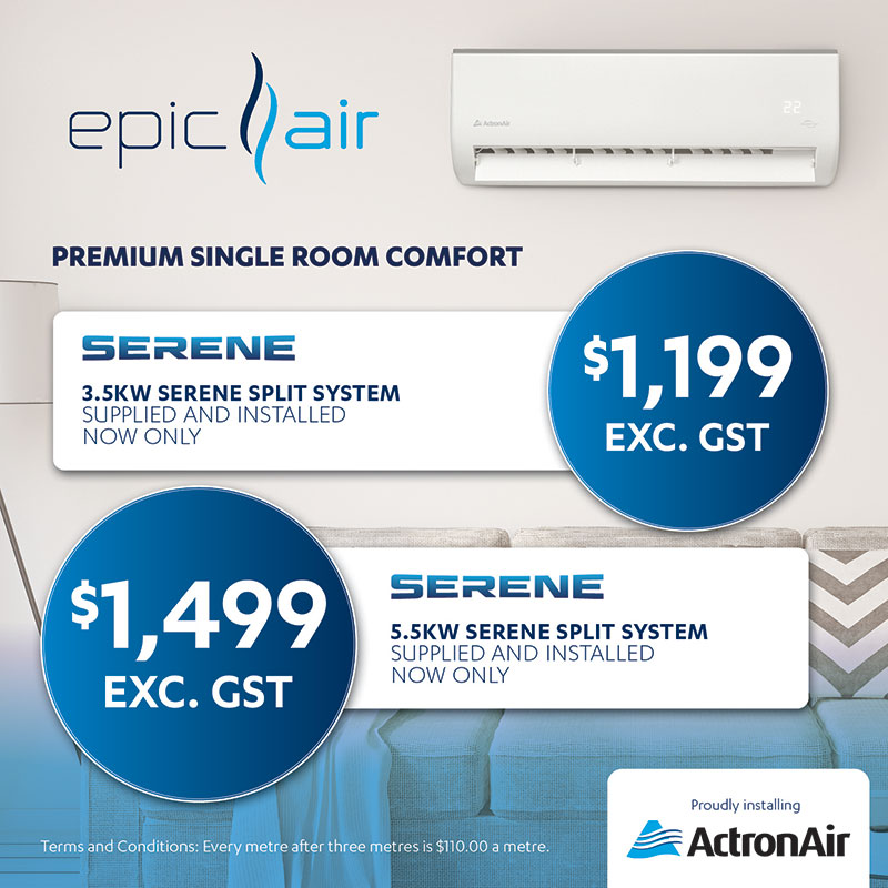 Epic Air proudly installing ActronAir